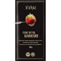 VIVANI Σοκολάτα κουβερτούρα μαύρη - 200g