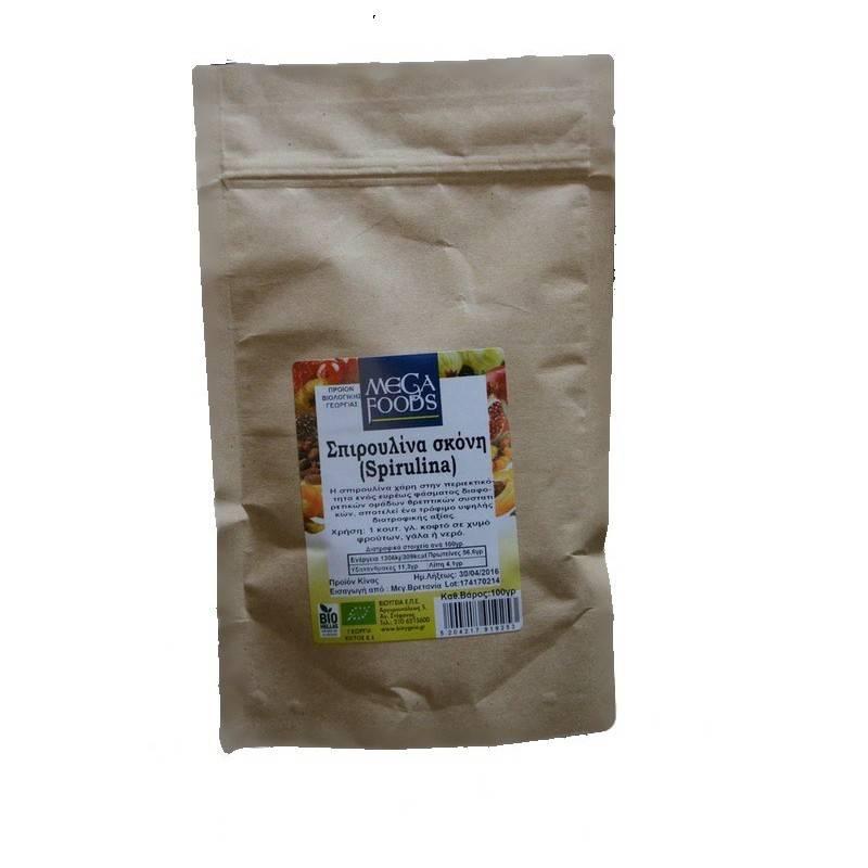 Σπιρουλίνα σκόνη - 100g - MEGAFOODS