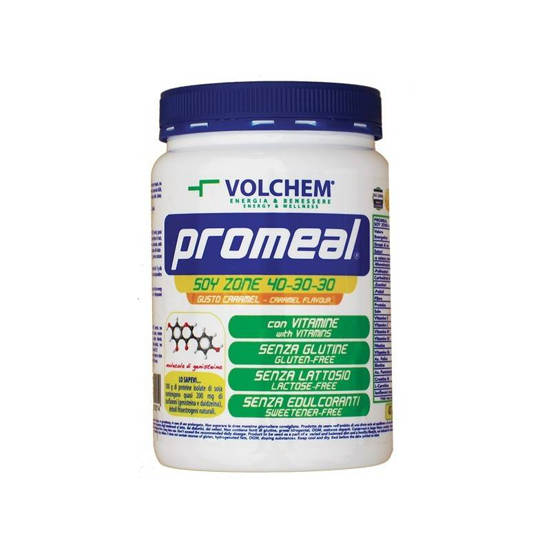 VOLCHEM Promeal soy zone 40:30:30 με γεύση καραμέλα - 400g